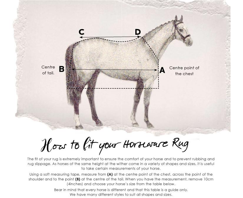 Horseware Size Guide