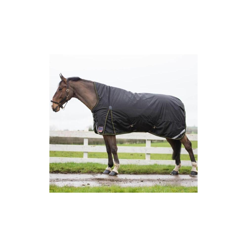 Mackey Equestrian Mackey Lugnaquilla Semi High Neck Heavy Outdoor Rug 360g in Black/Gold
