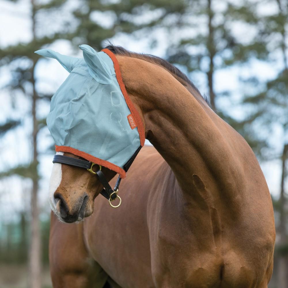 Horseware Amigo Horseware® Amigo FlyMask in Aqua/Orange