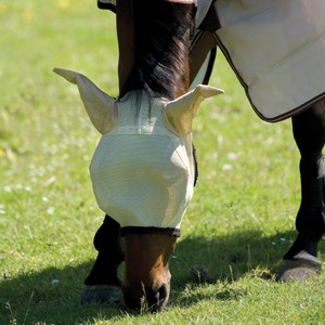 Horseware Amigo Horseware® Amigo FlyMask in Oatmeal/Navy