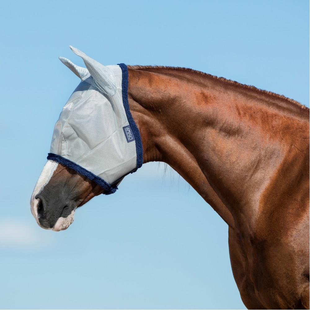Horseware Amigo Horseware® Amigo FlyMask in Silver/Navy