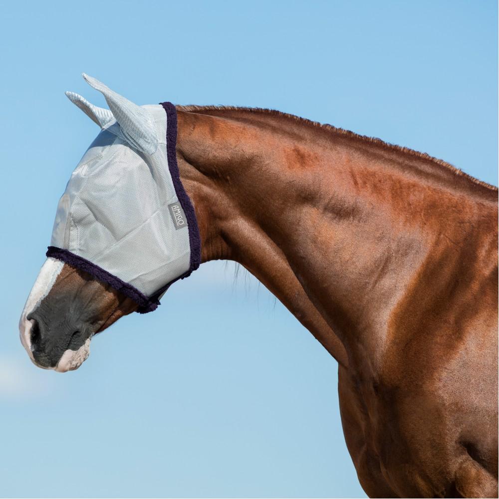 Horseware Amigo Horseware® Amigo FlyMask in Silver/Plum