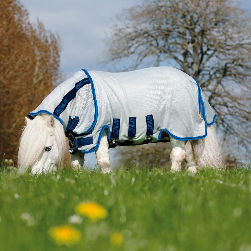 Horseware Amigo Amigo Petite Bug Rug in Azure Blue/Electric Blue/Navy