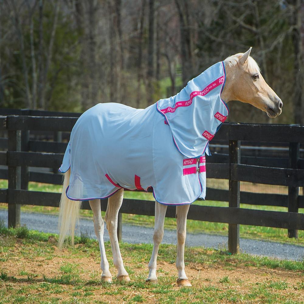 Horseware Amigo Amigo Bug Rug Pony in Azure/White/Pink