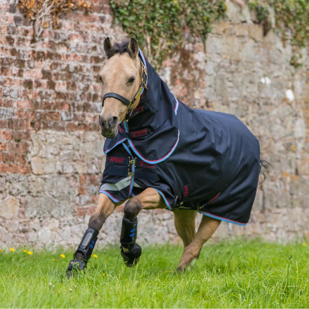 Horseware Amigo Amigo® Bravo 12 Pony Plus Turnout 0g in Navy/Red/Blue