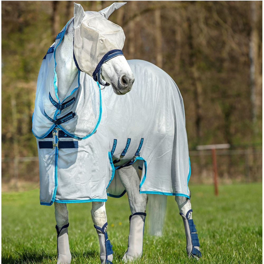 Horseware Amigo Amigo Bug Buster - Silver/Electric Blue/Navy in Silver/Electric Blue/Navy