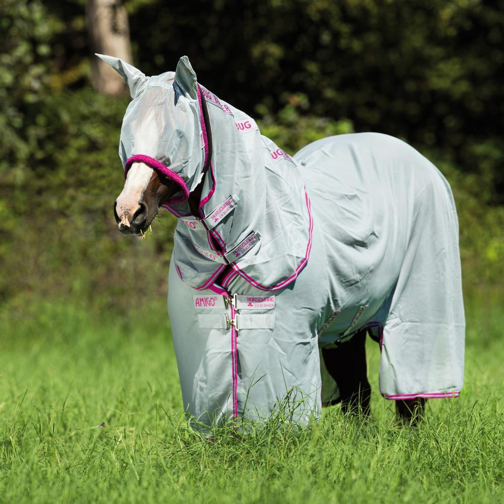 Horseware Amigo Amigo Bug Buster Vamoose in Silver/Purple