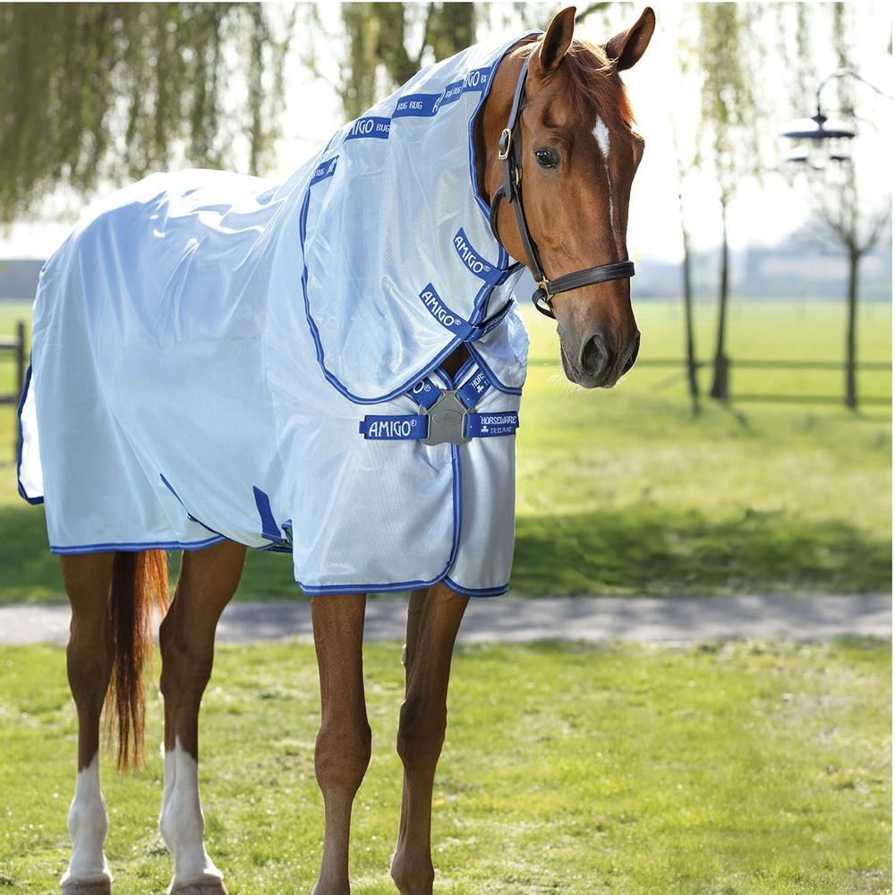 Horseware Amigo Amigo XL Bug Rug in Azure/Strong Blue/Silver