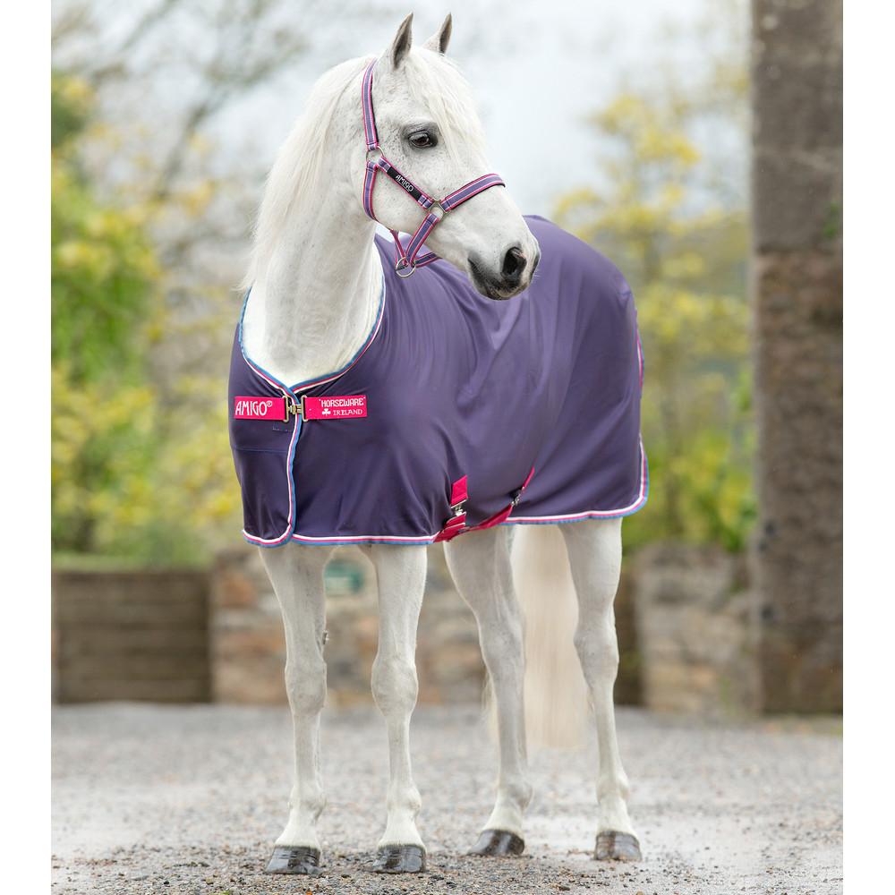 Horseware Amigo Amigo Jersey Pony in Grape/Pink/White/Powder Blue