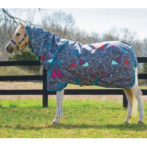 Horseware Amigo Amigo Pony Plus Lite 0g in Origami/Navy/Fuschia/Aqua