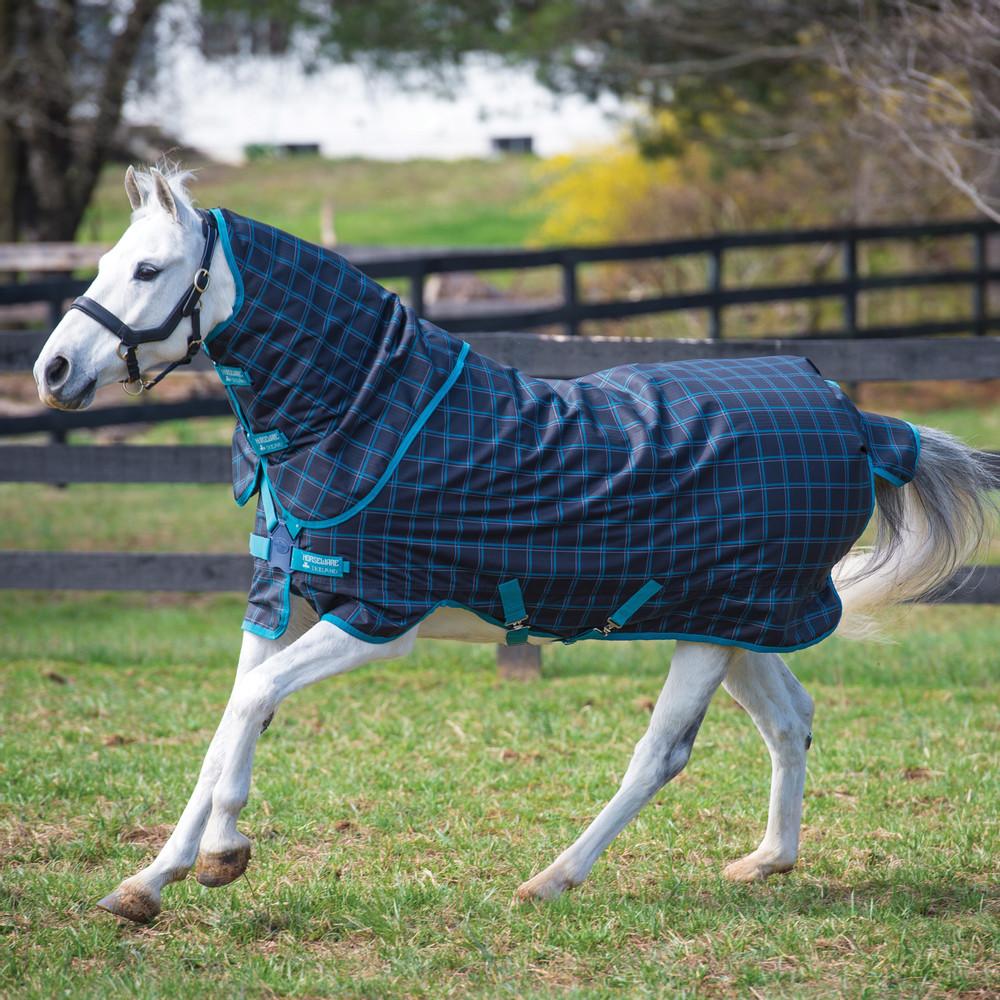 Horseware Amigo Amigo Pony Plus 50g in Black Check/Teal/Silver