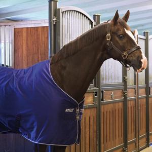 Horseware Amigo Amigo Stable Sheet in Atlantic Blue/Ivory
