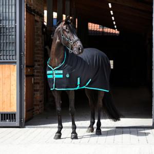 Horseware Amigo Amigo Stable Sheet in Black/Teal/Dark Cherry
