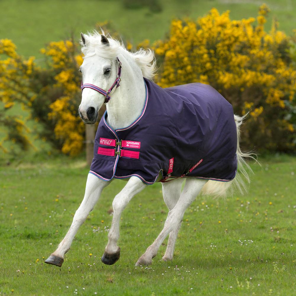 Horseware Amigo Amigo Hero 900 Pony Turnout Lite 0g in Grape/Pink/White/Powder Blue