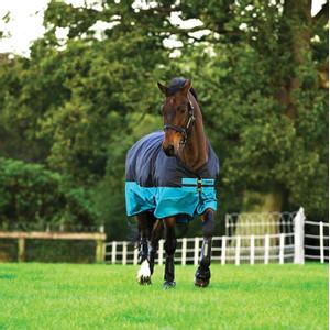 Horseware Mio Turnout  Lite 0g in Black/Turquoise