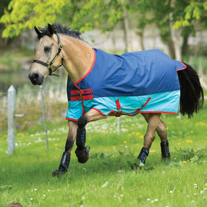 Horseware Mio Turnout  Lite 0g in Dark Blue/Aqua/Red