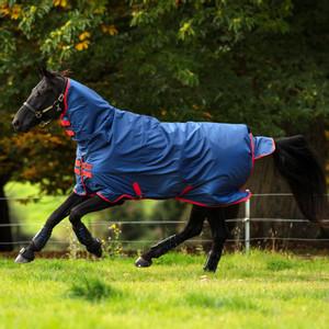 Horseware Mio Mio All-In-One 350g self bound in Dark Blue/Red