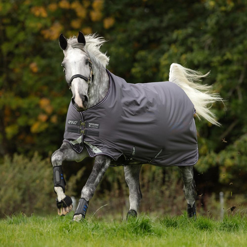 Horseware Amigo Amigo Bravo 12 Original  Medium 250g in Excalibur/Plum/White/Silver
