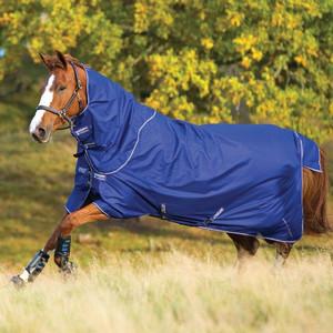 Horseware Amigo Amigo Hero 900 Plus Lite 0g in Atlantic Blue/Ivory