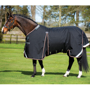 Horseware Rambo Rambo Optimo Turnout 0g outer only in Black/Orange