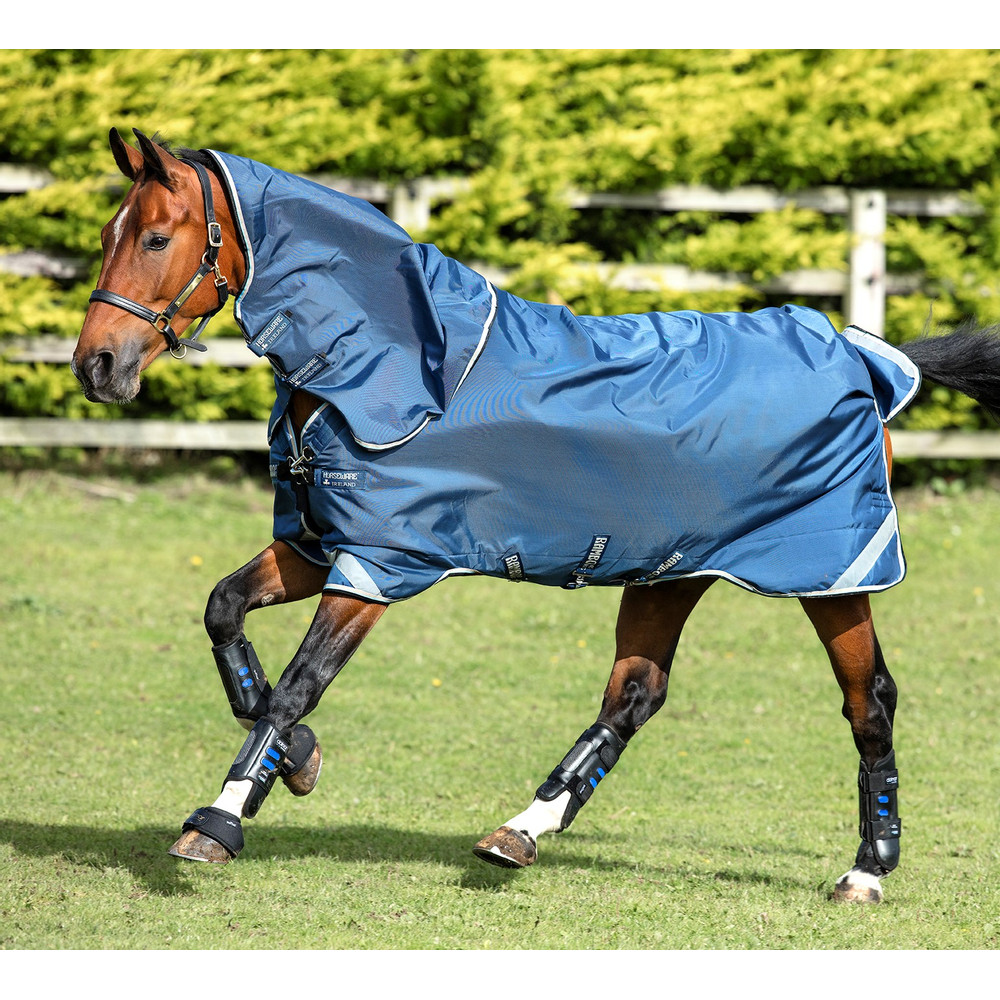Horseware Rambo Rambo Tech Duo Bundle 50g Outer with 150g Liner and Airmax Liner in Denim Blue/Tan
