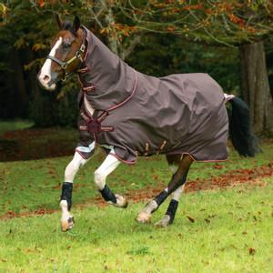 Horseware Amigo Bravo 12 Turnout Hood 0g in Brown/Red/Gold