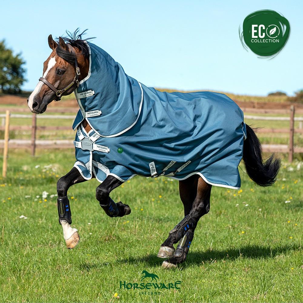 Horseware Amigo AmEco Bravo 12 Plus Turnout 0g in Teal/Grey