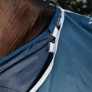 Horseware Amigo AmEco Bravo 12 Plus Turnout 100g in Teal/Grey