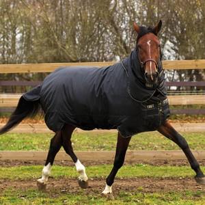 Horseware Trot Plus Heavy 350g Rug in Black/Tan