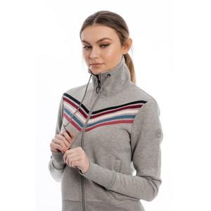 Horseware Cora Cowl Zip Top in Grey Melange