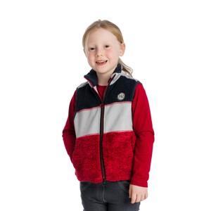 Horseware Kids Sherpa Gilet in Red/Grey/Navy
