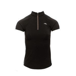Alessandro Albanese Cleancool Half Zip Lady Short Sleeve Top - Black