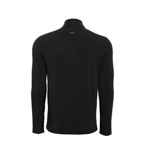 Alessandro Albanese Cleancool Half Zip Men  Long Sleeve Top - Black