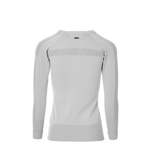 Alessandro Albanese Aria Perforated Sweater - Pearl Grey in Pearl Grey
