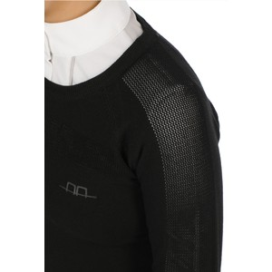 Alessandro Albanese Aria Perforated Sweater - Black in Black