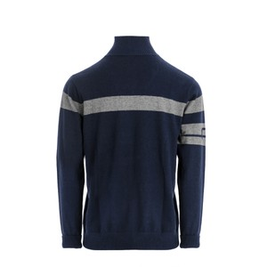 Alessandro Albanese Unisex Quarter Zip Knit Sweater - Navy