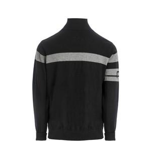 Alessandro Albanese Unisex Quarter Zip Knit Sweater - Black