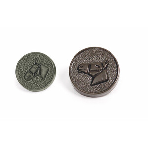 Shires Spare Horsehead Button in Brown Horse