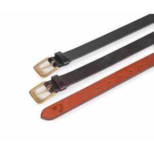 Aubrion 25mm Skinny Leather Belt - Adult in Black