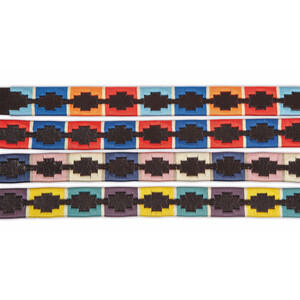 Aubrion Drover Polo Belt in Turquoise/Red/Orange/Blue