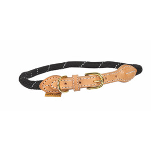 Digby & Fox Reflective Dog Collar - Black in Black