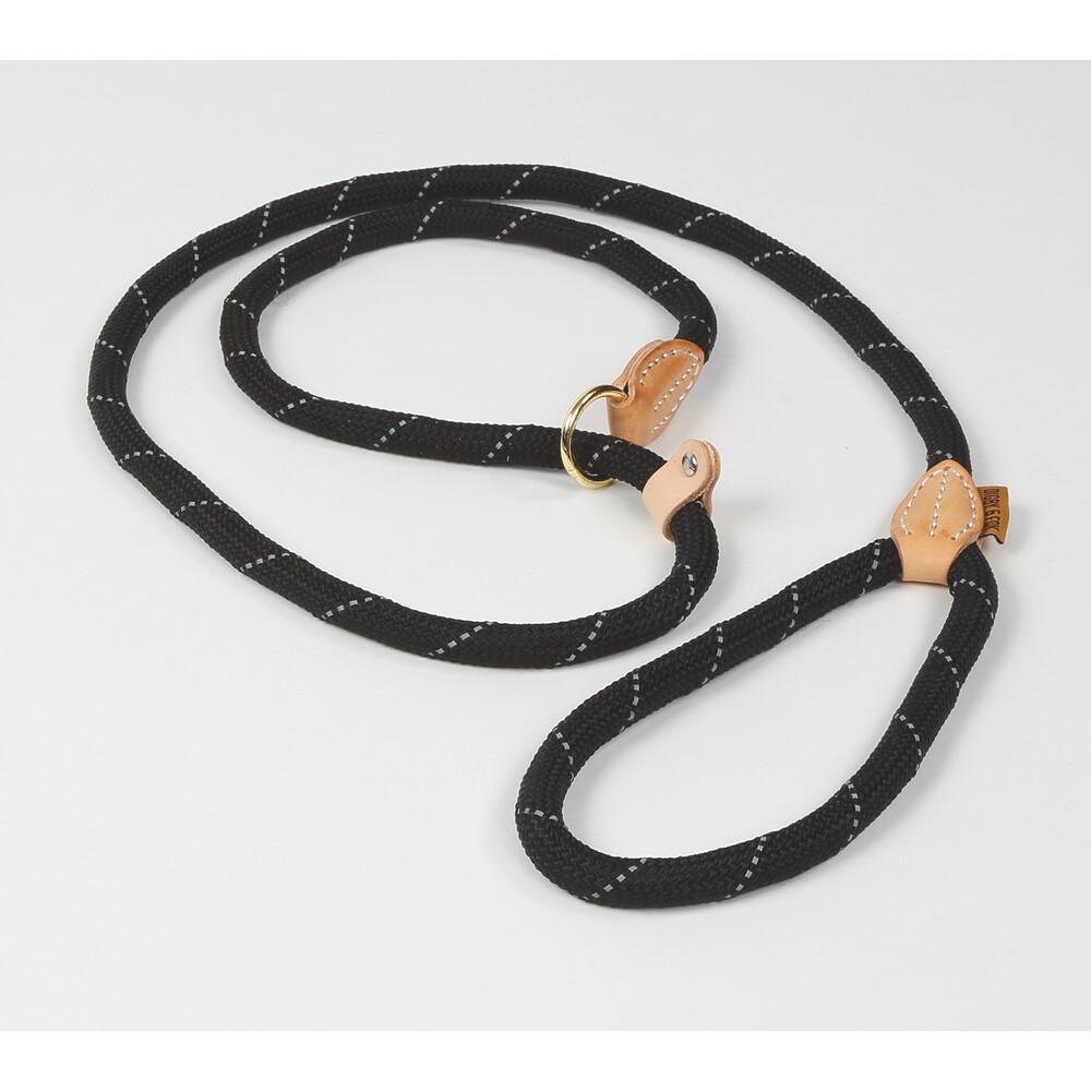 Digby & Fox Reflective Slip Dog Lead - Black in Black