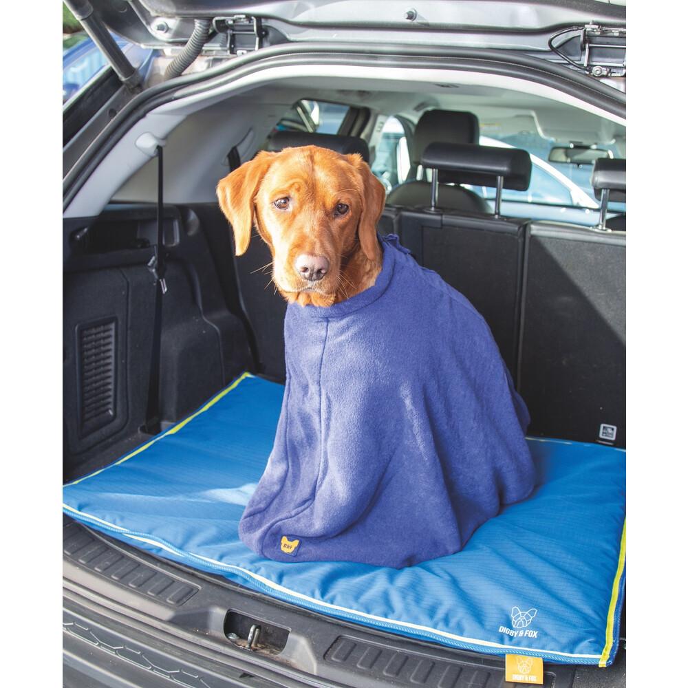 Digby & Fox Dog Towel Bag - Navy in Navy