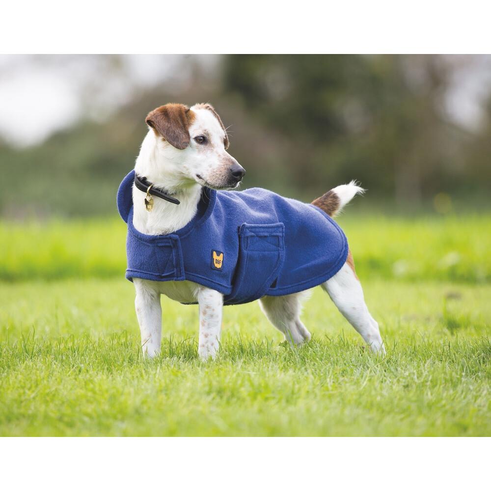Digby & Fox Dog Towel Coat - Navy in Navy