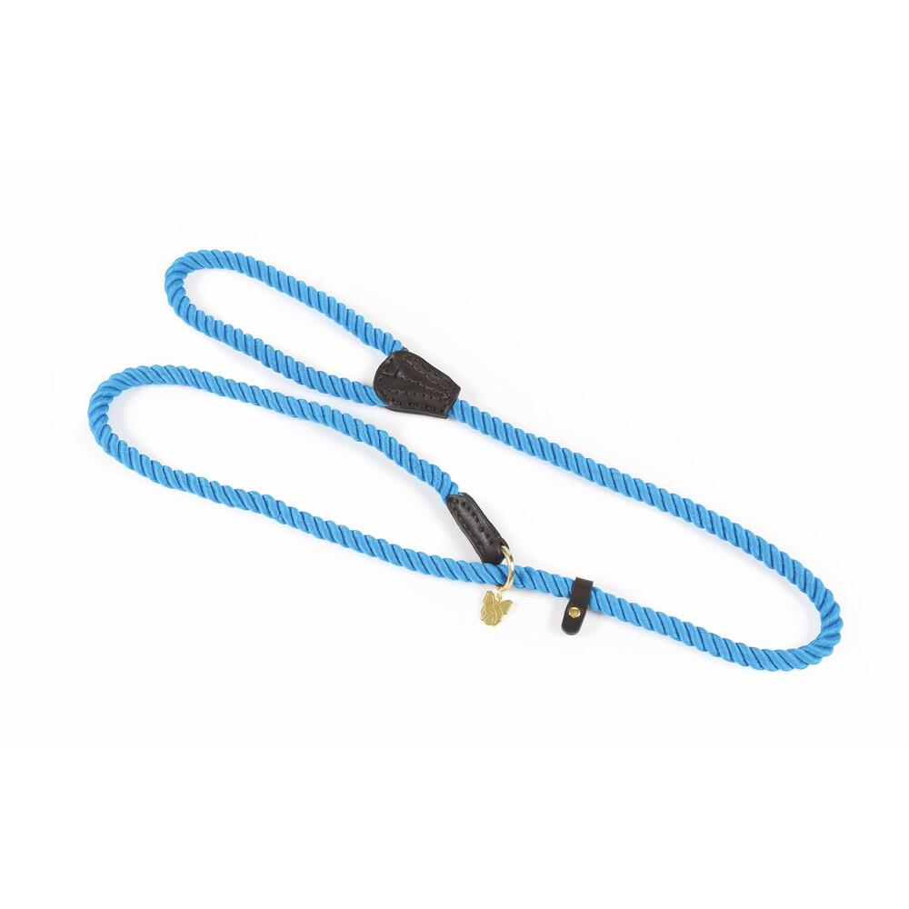 Digby & Fox Rope Slip Dog Lead in Blue