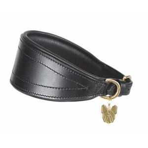 Digby & Fox Padded Greyhound Collar - Black in Black