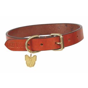 Digby & Fox Flat Leather Dog Collar - Tan in Tan