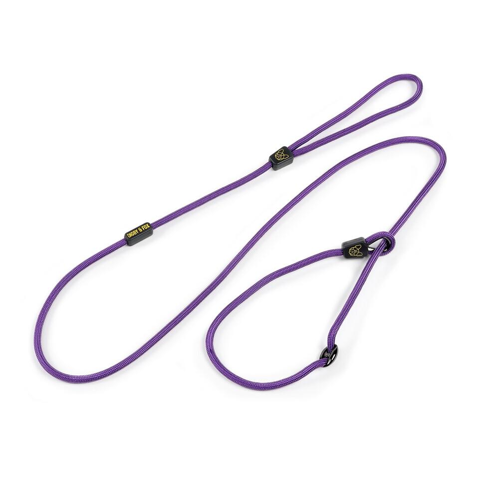 Digby & Fox Pro Slip Dog Lead - Purple in Purple