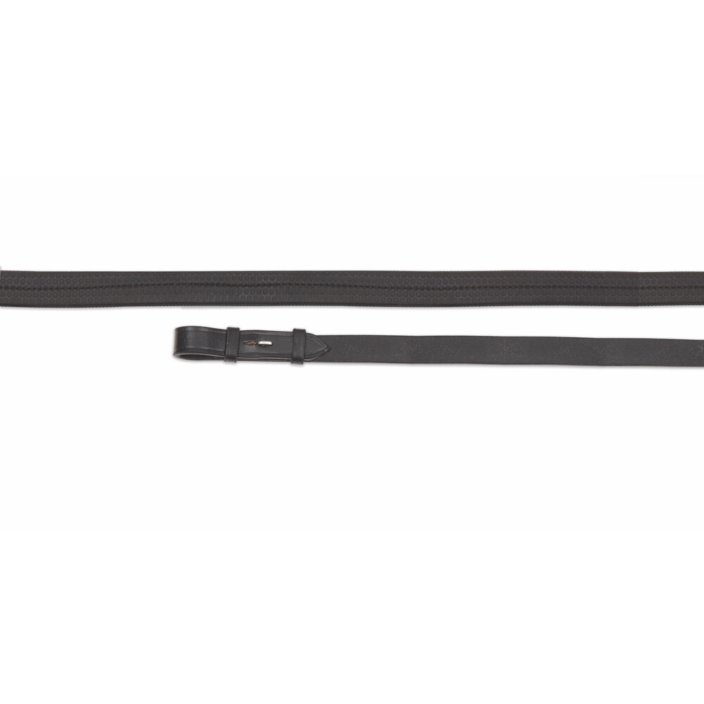 Aviemore Rubber Covered Reins - Black in Black