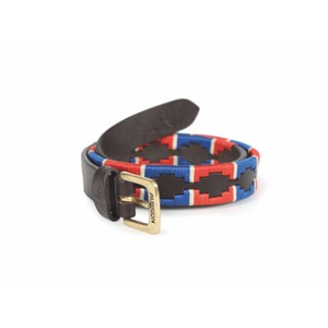 Aubrion Drover Skinny Polo Belt in Navy/Red